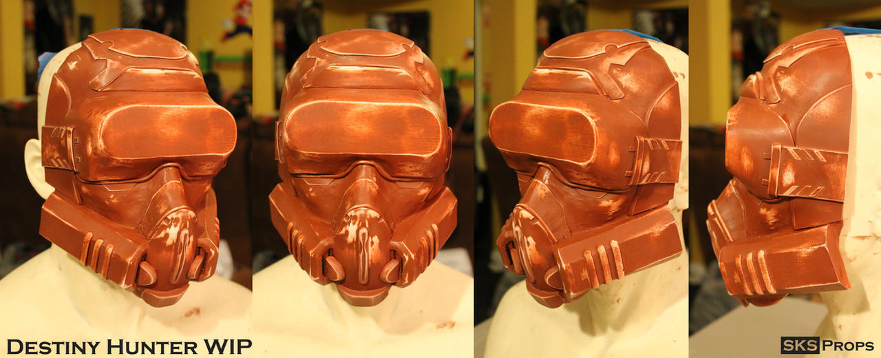 Destiny Hunter Cosplay Mask WIP 2 by SKSProps
