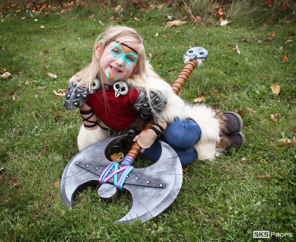 HTTYD War paint Lil Astrid Custom Cosplay SKSProps by SKSProps