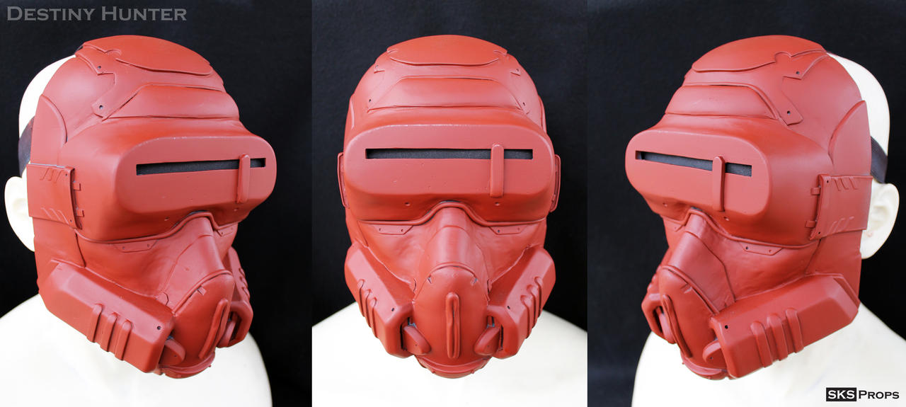 Destiny Hunter Cosplay Mask WIP 3 by SKSProps