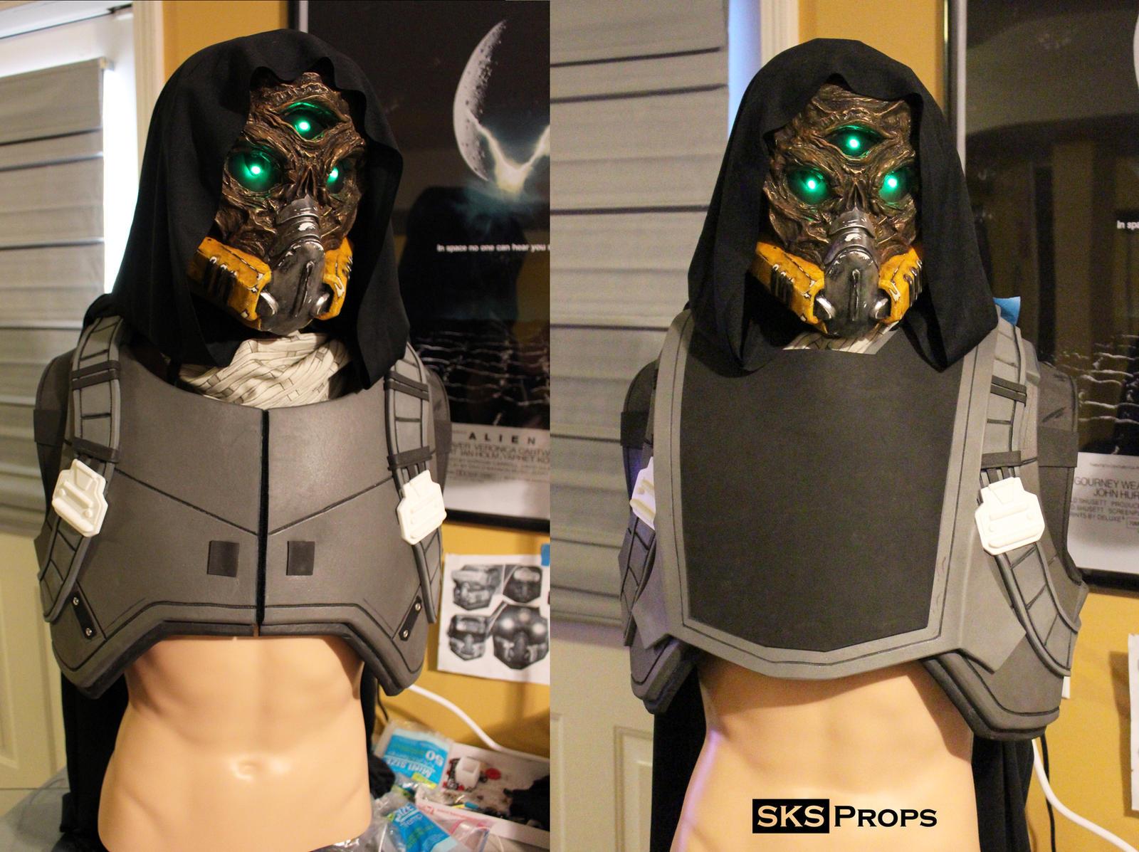 Destiny Hunter Chest Armor WIP 1 by SKSProps on DeviantArt