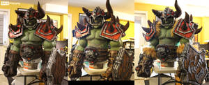 World of Warcraft Orc Cosplay WIP 19 SKS Props