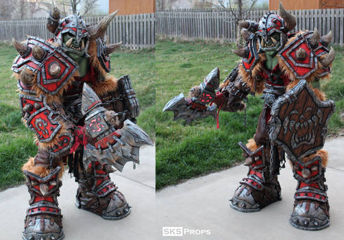 World of Warcraft Orc Cosplay WIP 22 SKS Props