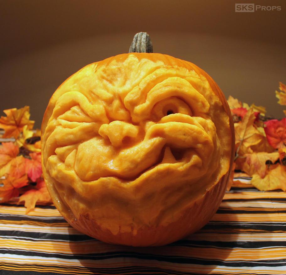 Goblin Pumpkin Carving / Sculpture by SKSProps