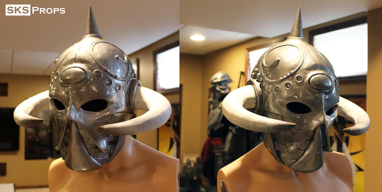 Frazetta Death Dealer Helmet WIP 14 SKS Props by SKSProps
