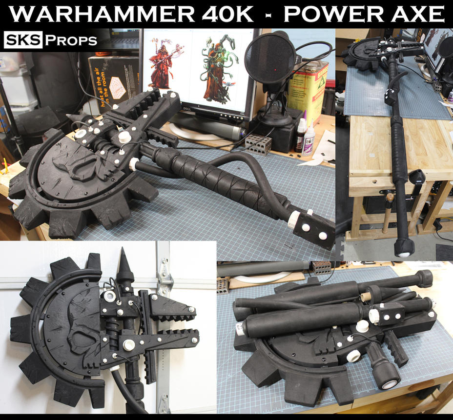 WARHAMMER 40K - Power Axe SKS Props by SKSProps