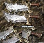 God of War Blades of Chaos Hand Sculpted SKSProps