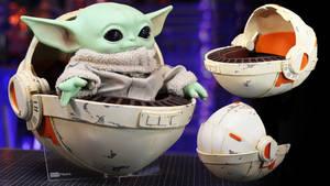 Baby Yoda Pram Pod made out of Foam Free Templates