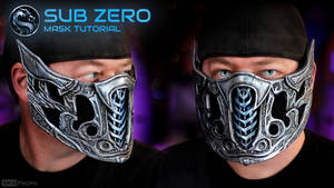 Sub Zero Mask for Cosplay can be worn over PPE