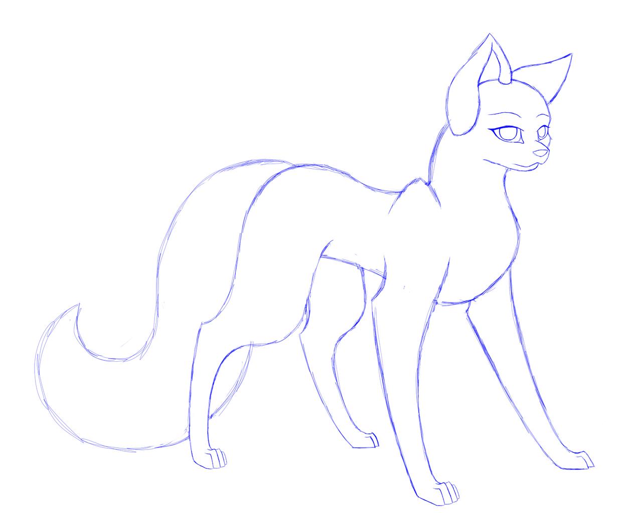 female wolf base updated by xnovafox on deviantart