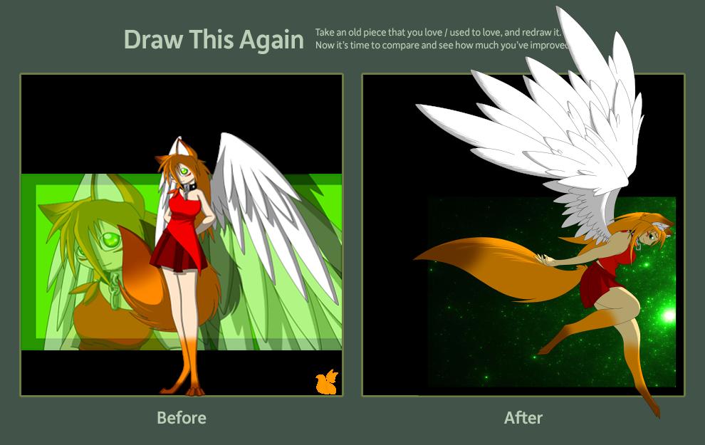 Rena Draw this again by xFoxblaze