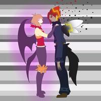 Flamey and Alpha by F0XBLAZE
