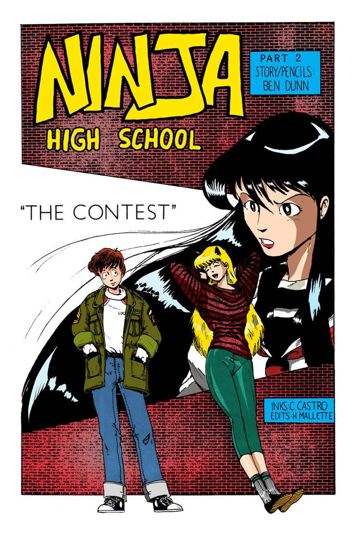Ninja High School color practice by JudgeFred