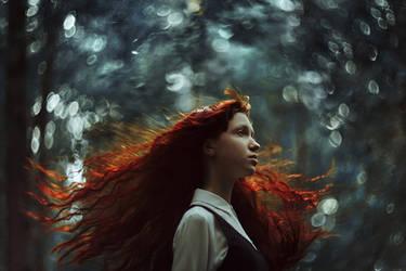fiery hair by Shi-Nya-Nya