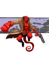 Hellboy by universe-K