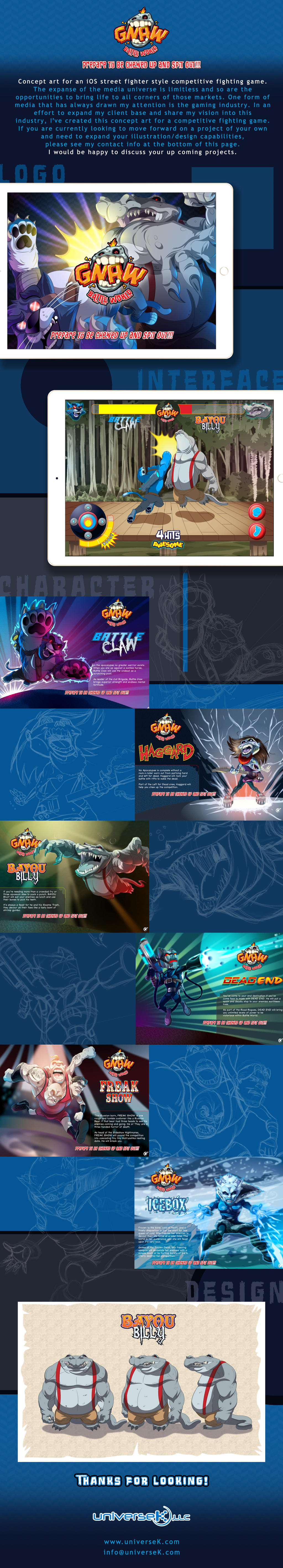 GNAW Battle World Concept art by universe-K