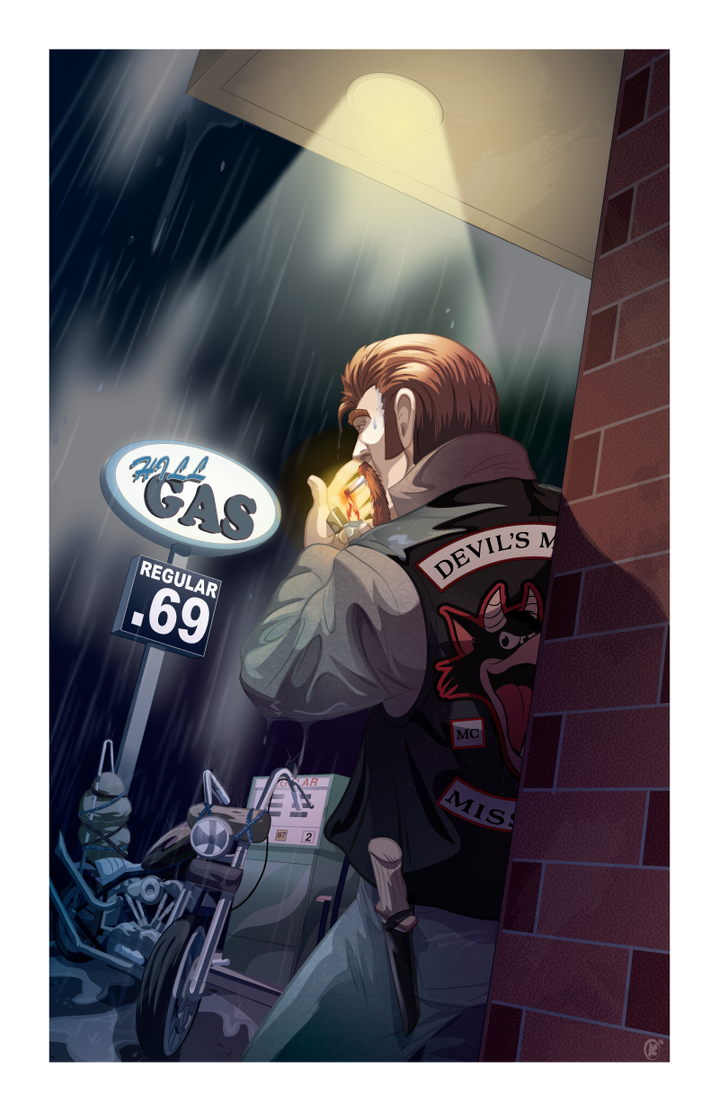 Caught in the rain by universe-K
