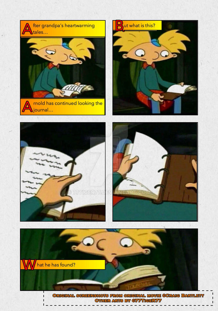 Hey Arnold! The Jungle Movie comics, eng, page 1 by 77tiger77