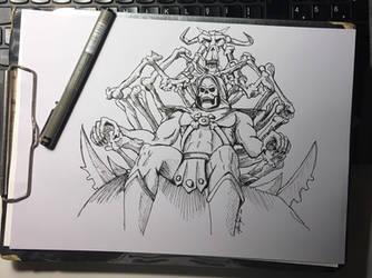 Skeletor line art