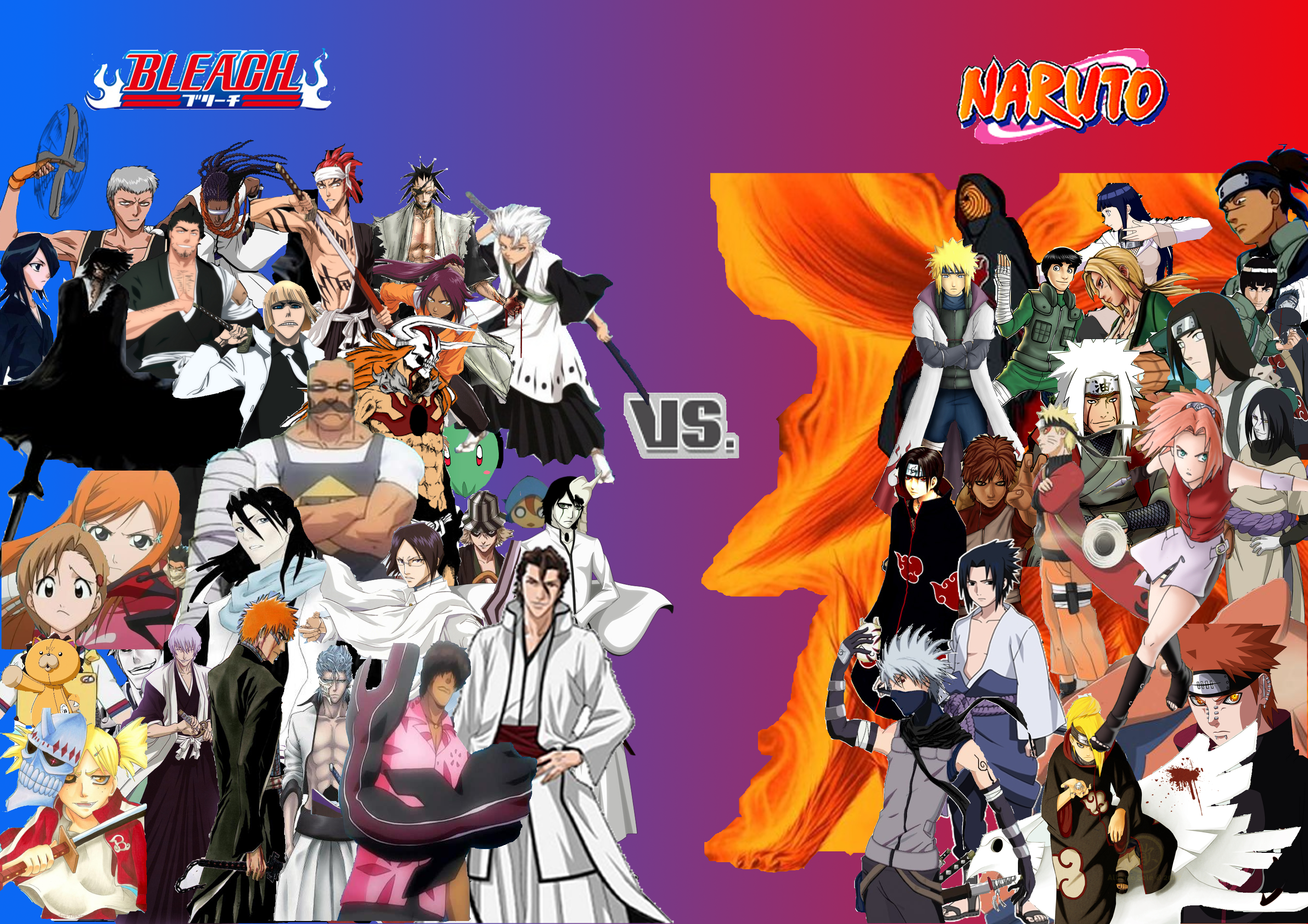 Naruto Collage By AzureKensei Bleach Vs. Naruto Collage By AzureKensei