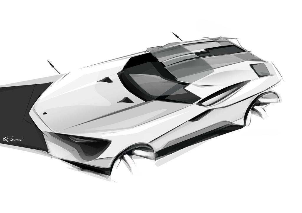 Lamborghini Espada sketch