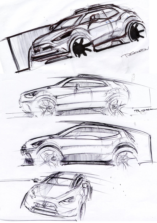sketching by Qvaka