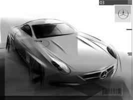 Mercedes 300 sl  maybe by Qvaka