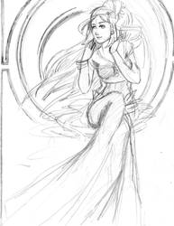 Harvest Goddess-Rough Sketch by ElectricEclectic