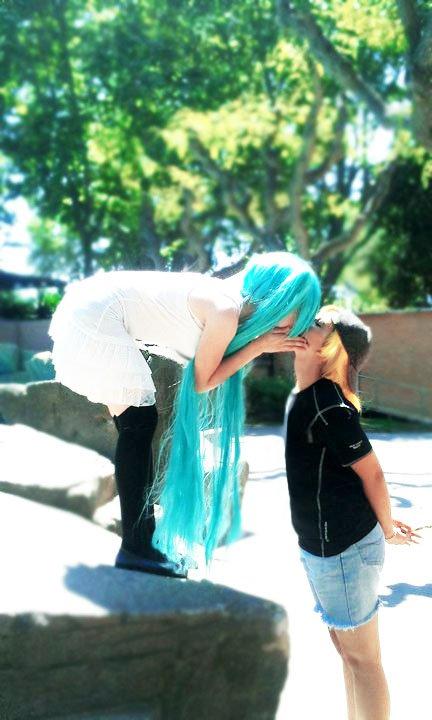 First Kiss - Len and Miku by nanaloid on DeviantArt  First Kiss - Le...