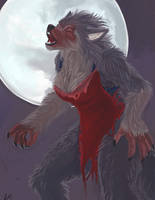 Digital Painting: She-wolf by Fringecrow