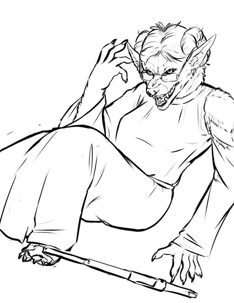 Draw a Werewolf Day May 4th-3 by LudoMercier