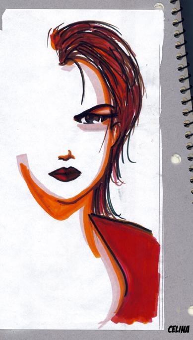 Woman and Fancy Markers. by ChibiCelina