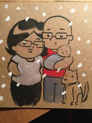 Hernandez-Murphy Family by ChibiCelina