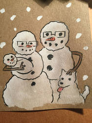 Snowmen Portrait by ChibiCelina