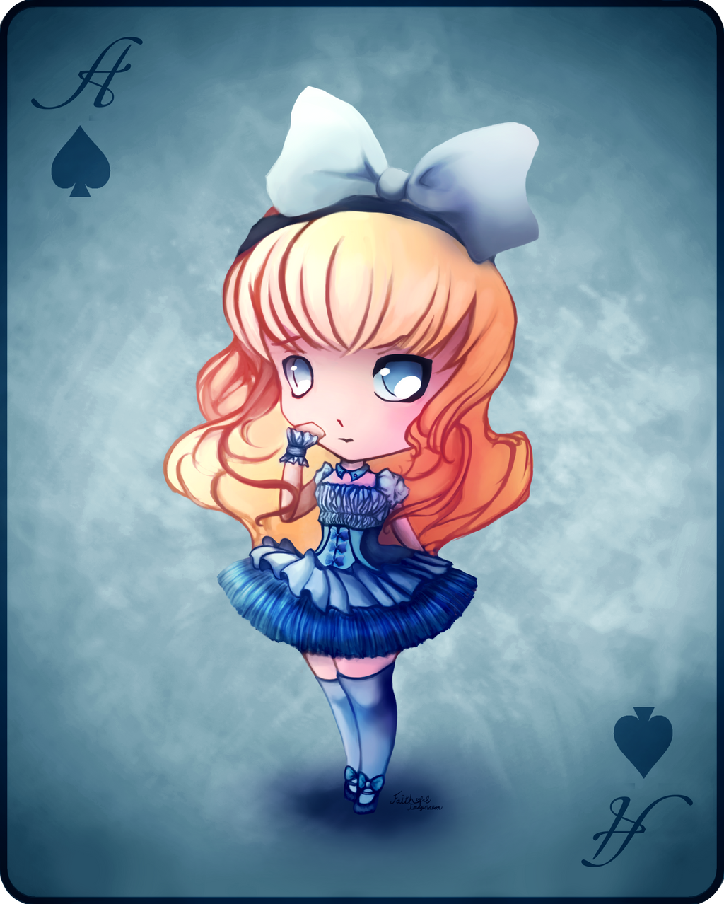 chibi alice in wonderland by faithful imagination on deviantart