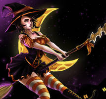 League of Legends - Bewitched Nidalee by eollynart