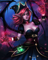 League of Legends - Bewitching Morgana by eollynart