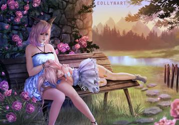Black Desert Online - Sisters [Commission] by eollynart