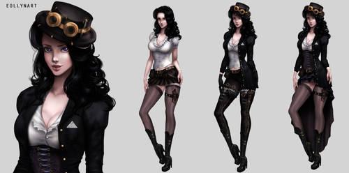 Adelina Steinmayer (Main Character) by eollynart