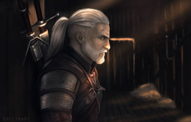 Geralt of Rivia - The Witcher III Wild Hunt by eollynart