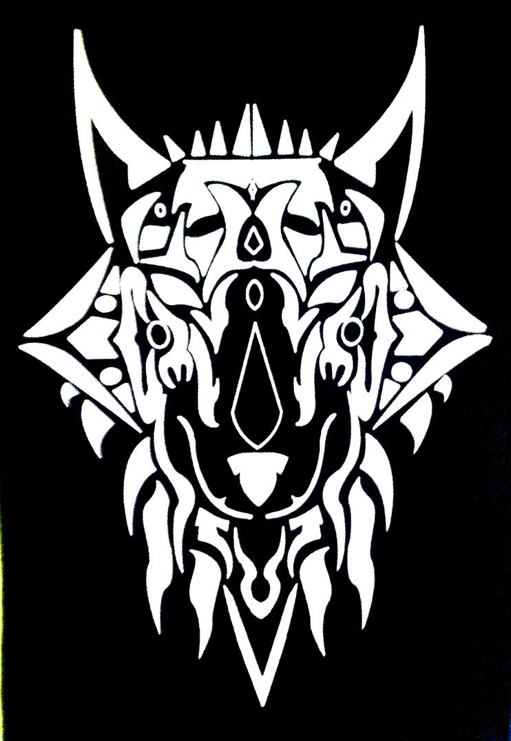 Tribal design t shirt - Tribal Wolf T Shirt Design By Erebus39