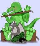 Dino Tickled