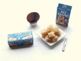 Mini Rice Krispies Treats 1:12