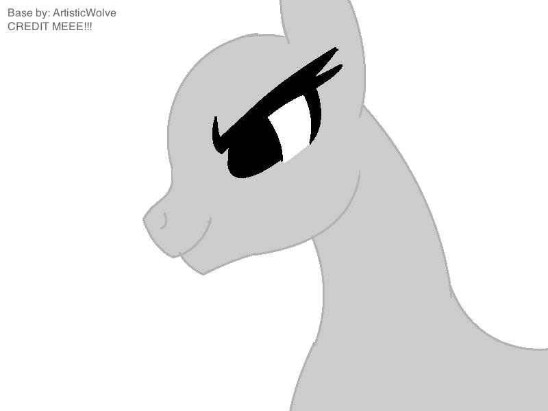 Evil Pony Base by ArtisticWolve on DeviantArt