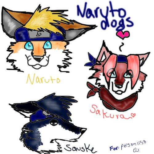 Naruto Characters as Dogs by XmidnightblackwolfxNaruto Characters As Animals