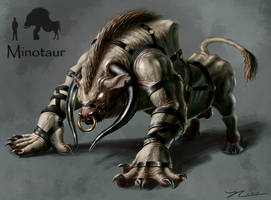 Minotaur Character Concept by NateHallinanArt