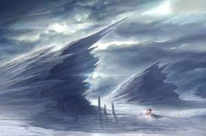 Frozen Planet Surface by NateHallinanArt