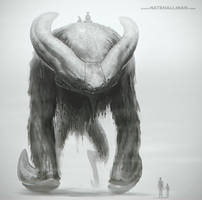 Bare Backed Bog Beast by NateHallinanArt