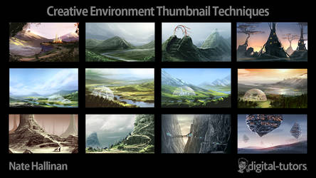 Creative Environment Thumbnail Techniques by NateHallinanArt