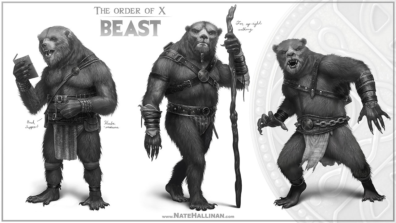 The Order of X - Beast by NateHallinanArt