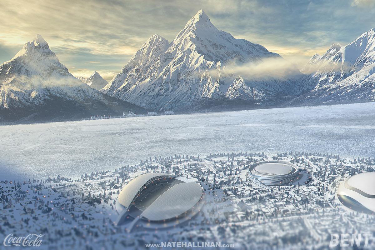 Coke Russia - Downhill by NateHallinanArt